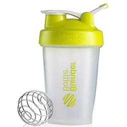 Blender Bottle Classic Loop Top Shaker Bottle, Clear Green,