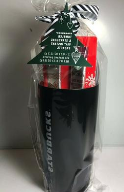 Starbucks Coffee Holiday Black Cup Travel Tumbler 20 Oz and