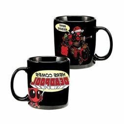Coffee Mug NEW * Deadpool Santa Hat Holiday * 20-oz Black Te