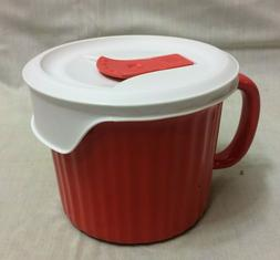CORNINGWARE COLOURS 20 Oz *RED MEAL* SOUP MUG VENTED POP-IN