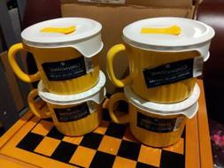 CorningWare Colours Pop-Ins 20-oz Soup Mug with Lid - 4 Pack