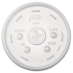 Dart Container Corporation Dcc 20Sl Strwslot Foam Cup Lid F/