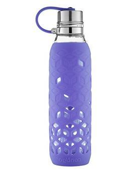 Contigo Purity Glass Water Bottle, 20 oz. with Petal Sleeve,