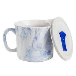 Corning Ware 20-oz Meal Mug w/ Lid, Marble Marine Blue Limit