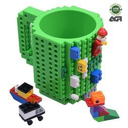 Creative DIY Build-on Brick Mug, Lego Style Coffee Mugs, Gif