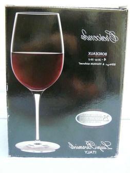 Luigi Bormioli Crescendo Bordeaux Wine Glasses 20 oz Set of