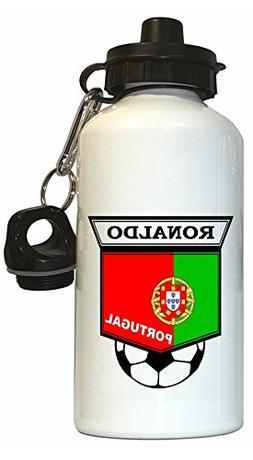Cristiano Ronaldo  Soccer Water Bottle White