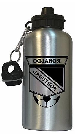 Cristiano Ronaldo  Soccer Water Bottle Silver