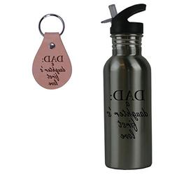 CustomGiftsNow Dad: A Daughter's First Love Stainless Steel
