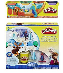 Play-Doh Disney Frozen Sparkle Snow Dome Set with Elsa and A
