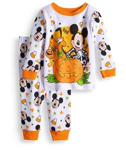 DISNEY MICKEY MOUSE HALLOWEEN BABY PAJAMAS SIZE 9 12 18  MON
