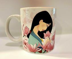 Disney's Mulan Pink Floral Portrait 20 oz Coffee Mug NEW