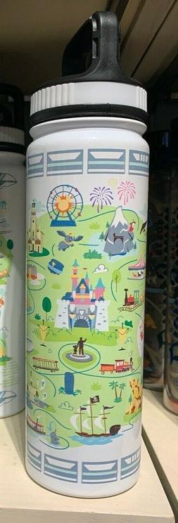 Disneyland Resort Park Map Attractions Stainless Steel Water