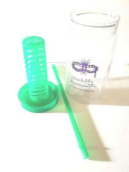 DRINK LOGIC Mason Jar Style W/ Fruit Infuser & Straw BPA Fre