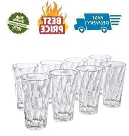 Everyday Drinking Glasses Durable Large Thick Tumblers Drink