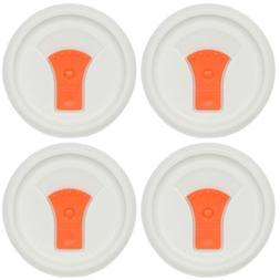 Corningware F-22-VPC 20oz Orange Round Vented Lid 4PK for Po