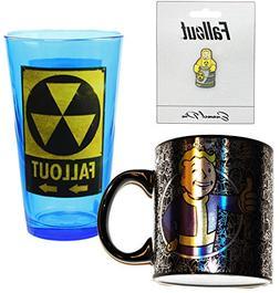 Fallout Rad Bundle: Mug, Pin, Pint Glass