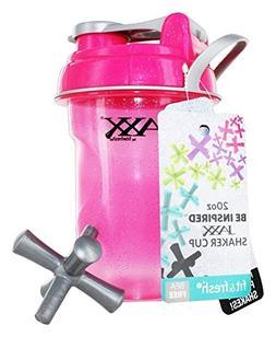 FIT & FRESH 778FFGPNKGLITTER PINK JAXX 20OZ SHAKER CUP