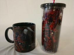 Freddy Vs Jason - 20oz Tumbler Cup with Straw & 20oz Ceramic