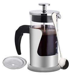 Romote French Press Coffee Maker, 20 Oz  304 Stainless Steel