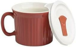 CorningWare French White 20 Ounce 591 ML Mug with Vented Pla