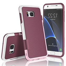 Galaxy S7 Edge Case, TILL Ultra Slim 3 Color Hybrid Impact A