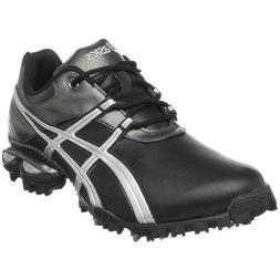ASICS Men's GEL-Linksmaster Golf Shoe, Black/Silver/Gunmetal