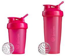 New Genuine 28oz + 20oz Pink Classic Blender Bottle Sundesa