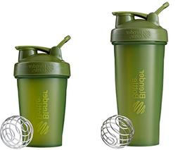 Blender Bottle Green Shaker Cup with Stainless Steel Wire Wh