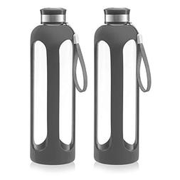 Swig Savvy Glass Water Bottle – 20oz / 32oz Break-resistan