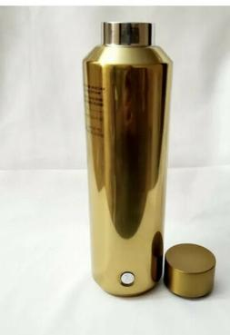 gold stainless steel water bottle vacuum insulated