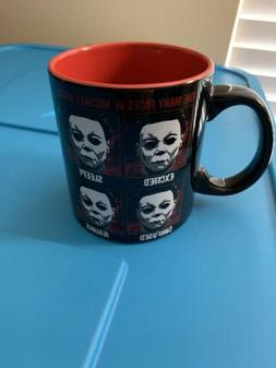 Halloween Michael Myers 20 oz Ceramic Mug Many Faces