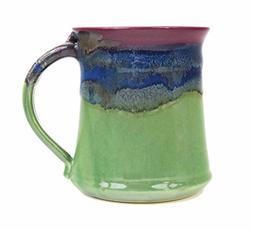 Clay In Motion Handmade Ceramic Medium Mug 16oz - Mossy Cree