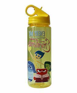 Inside Out 20-Oz. Yellow Flip Straw Water Bottle BPA FREE