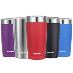 SIMPLE DRINK 20oz Insulated Tumbler with Splash-Proof Lid -