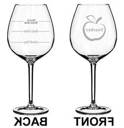 jumbo 20oz wine glass 2 sided teacher