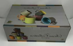 Yedi Houseware Set of 6 Jumbo 20 oz Porcelain Mugs, Coffee,