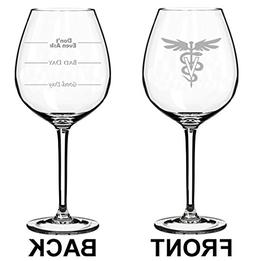 20 oz Jumbo Wine Glass Funny Two Sided Good Day Bad Day Don'