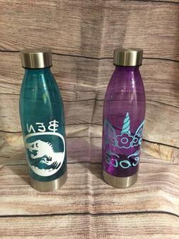 Kids Personalized Water Sports Bottle 20oz Monogrammed - Pla