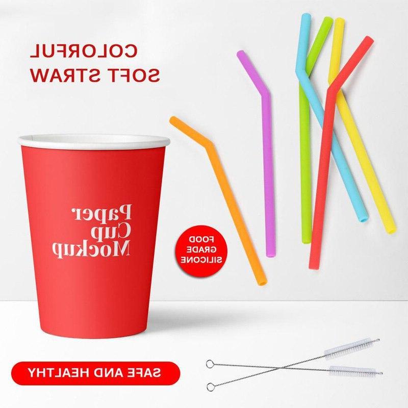 1/3Pcs Reusable Straws Long Flexible Brushes for <font><b>20</b></font> <font><b>oz</b></font> Tumbler Bar