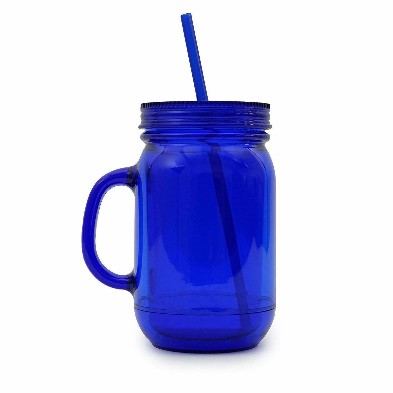 100% Mason Jar Cup W/Straw Wall Drink