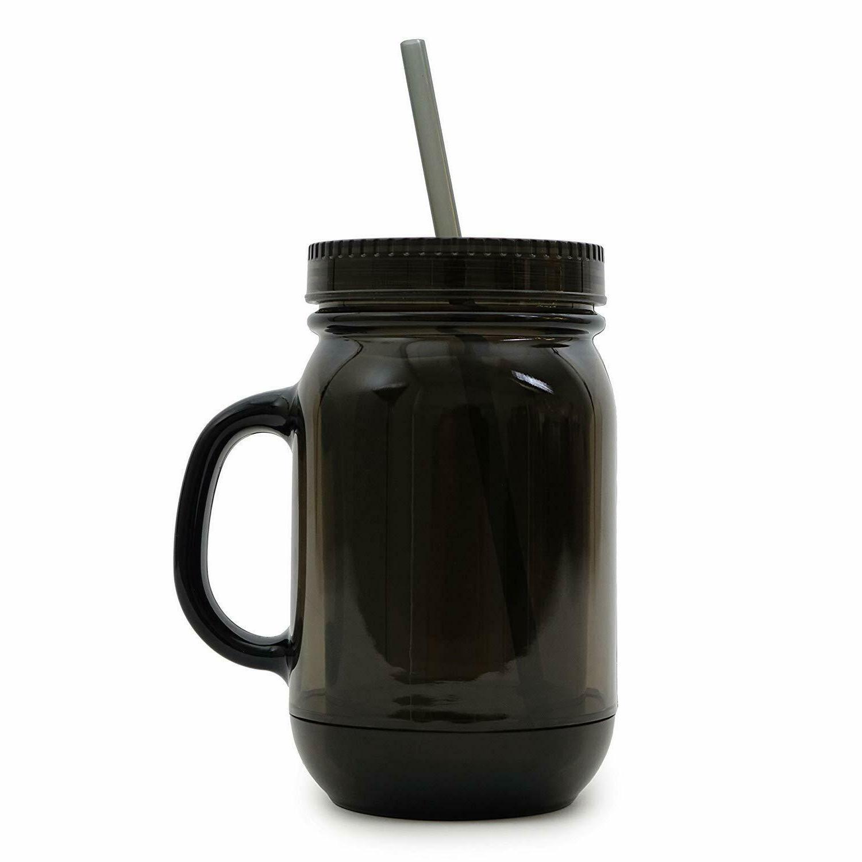 100% BPA Free Jar Cup Sports W/Straw Drink