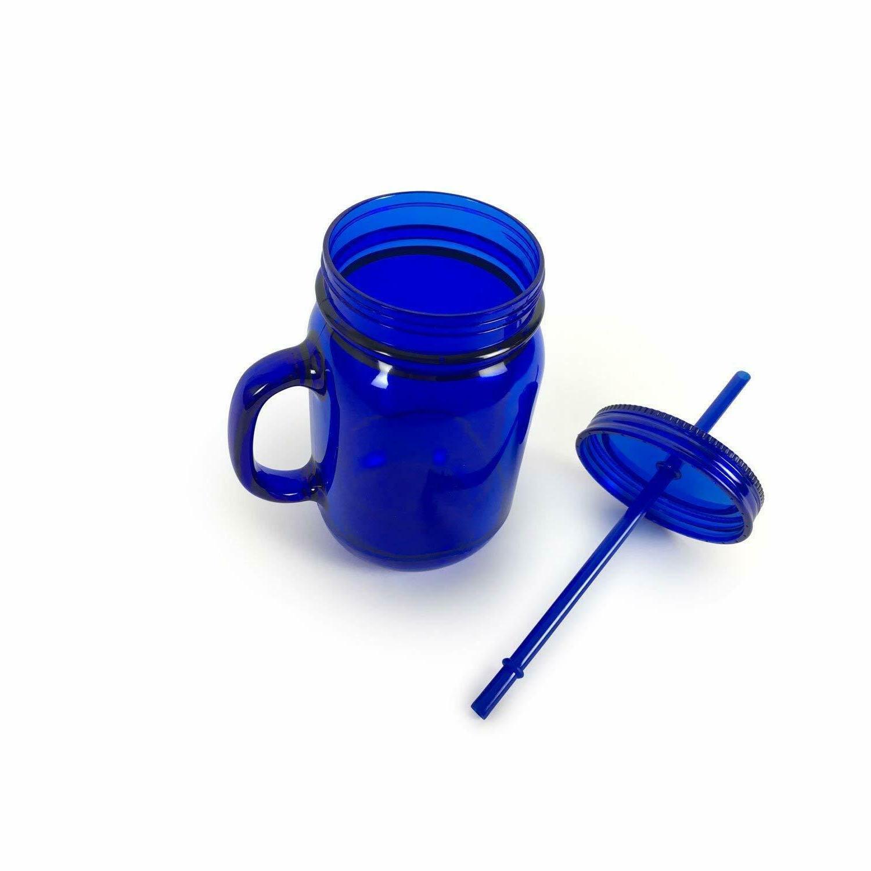 100% Mason Jar Cup W/Straw Drink