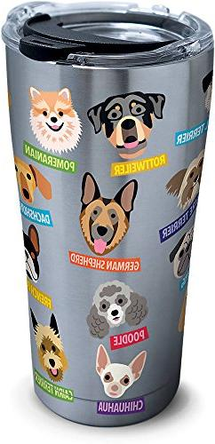 Tervis 1261381 Flat Art - Dogs Stainless Steel Tumbler with