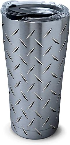 Tervis 1277991 Diamond Plate Stainless Steel Tumbler with Cl
