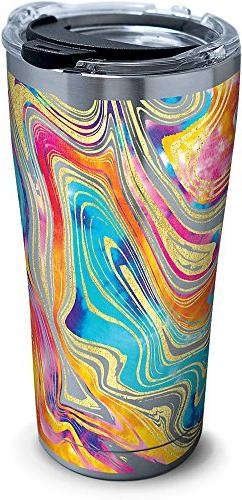 Tervis 1287668 Tie Dye Swirl Stainless Steel Tumbler with Cl