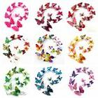 12pcs 3D Butterfly Sticker Art Design Decal Wall Decals Kids