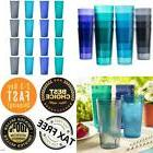 16 Plastic Drinking Tumbler Set Glasses Water Soda Pop Ice T