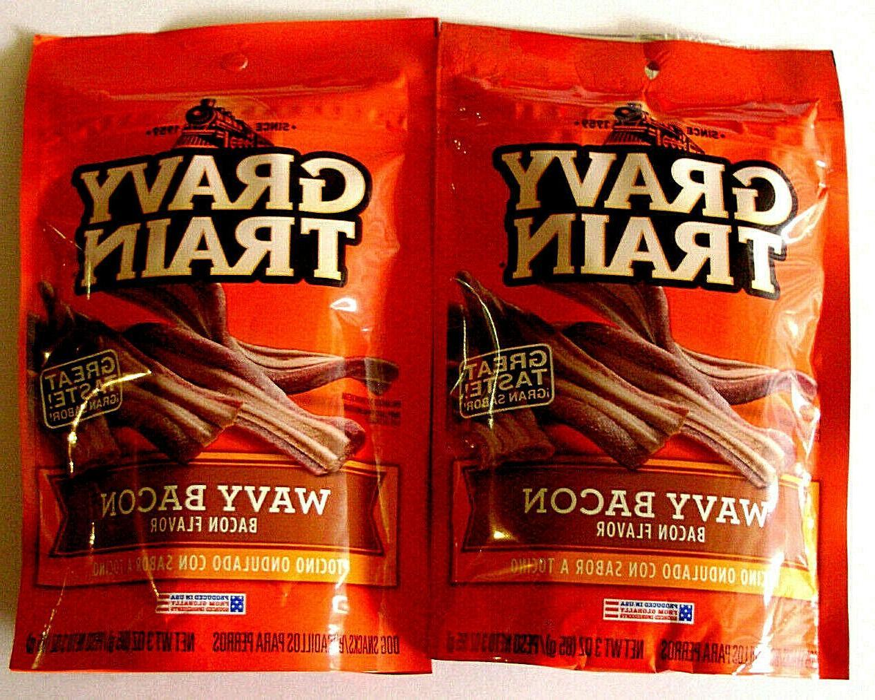 2 x wavy bacon 3 oz 85g