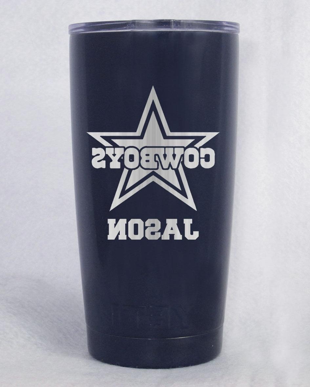 20 oz dallas cowboys laser engraved navy